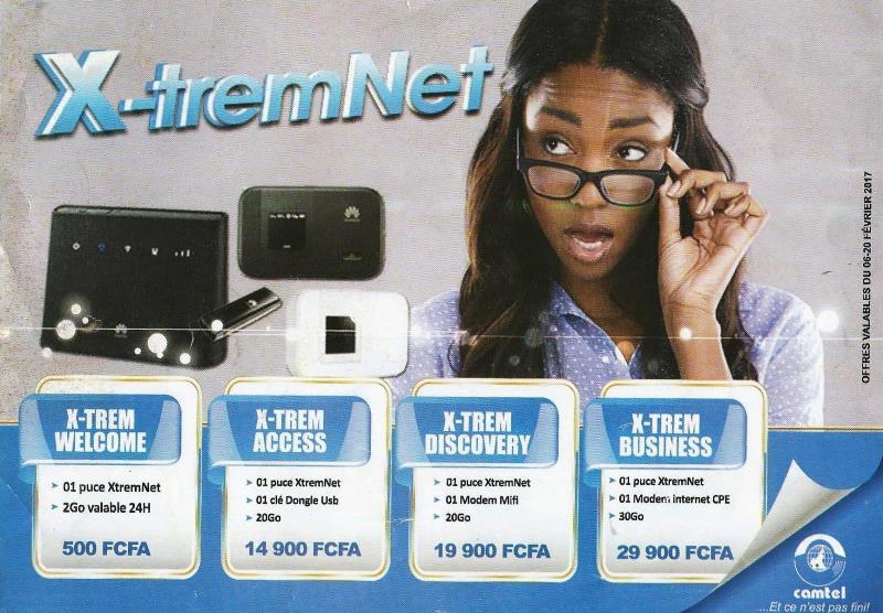 Promotion Camtel Xtremnet Février Mars 2017