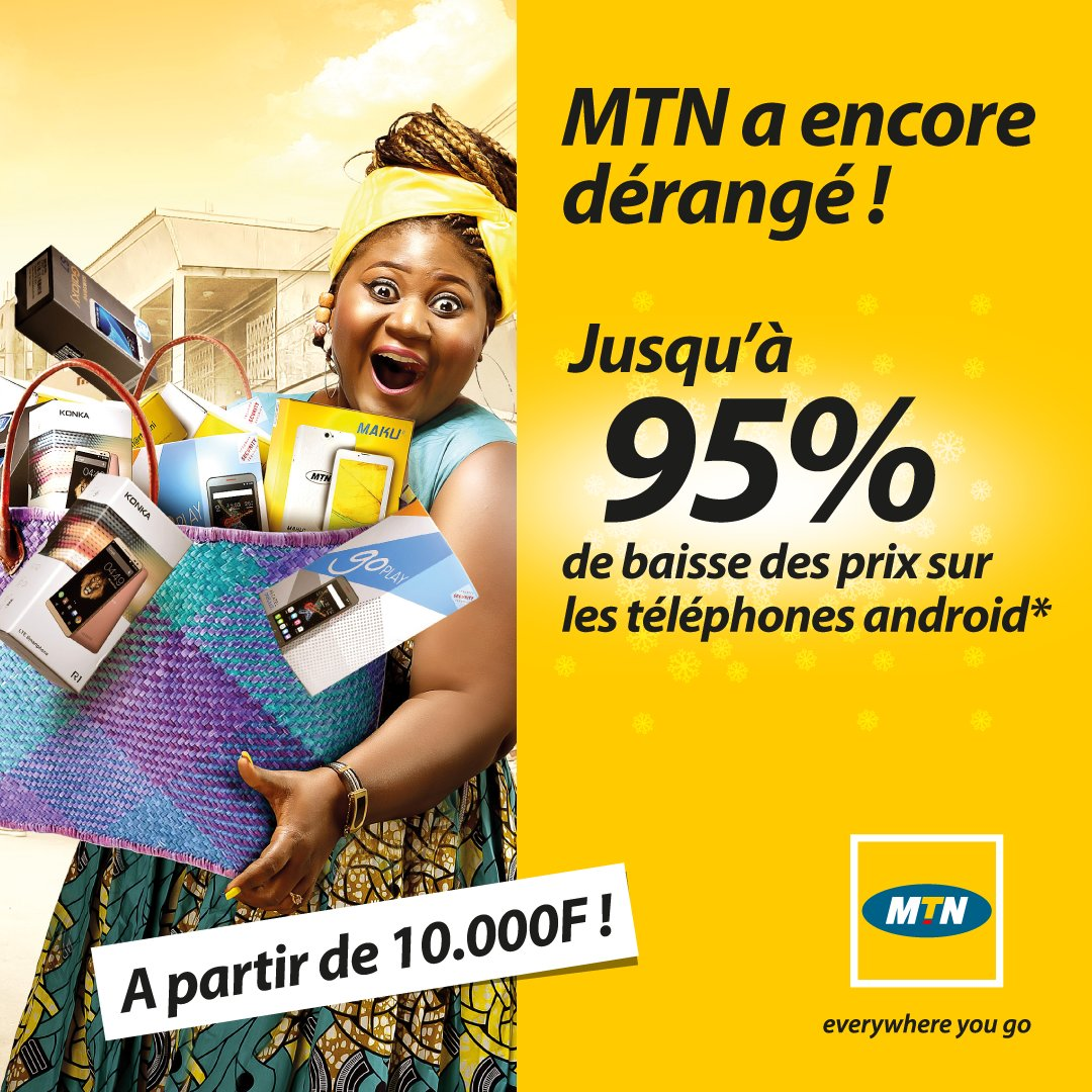 jusqu 39 95 de baisse des prix sur les t l phones chez mtn cameroon publicit mensong re le. Black Bedroom Furniture Sets. Home Design Ideas