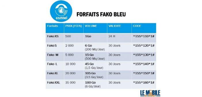 Camtel lance Fako Bleu, ses nouveaux forfaits internet 4G et EVDO