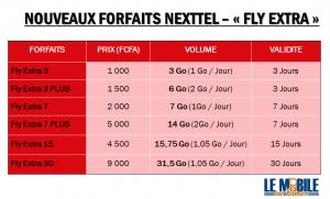 Nouveaux Forfaits NEXTTEL CAMEROUN FLY EXTRA (GIGA DATA)
