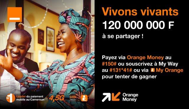 Affiche vivons vivants Orange Cameroun