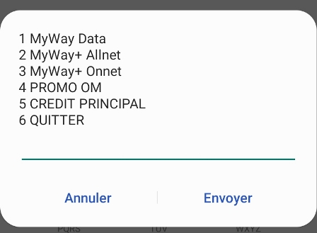 Solde forfait My Way+ Orange Cameroun